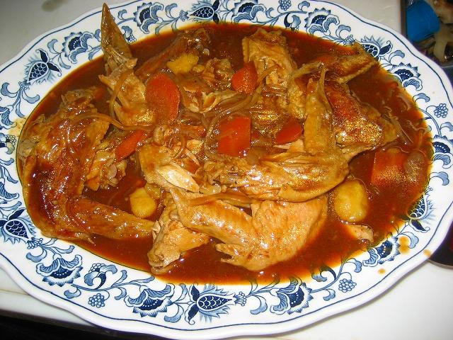鶏のデミグラソース煮