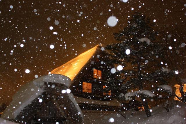 雪のライトうp