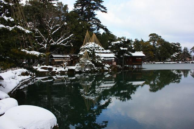 池からとった景色