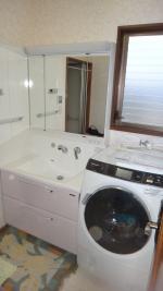 タカラ洗面台&ドラム洗濯機納品